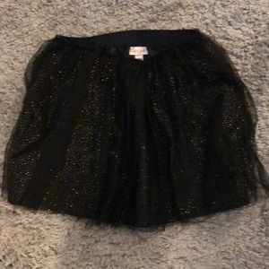 Girls Black Tulle Skirt